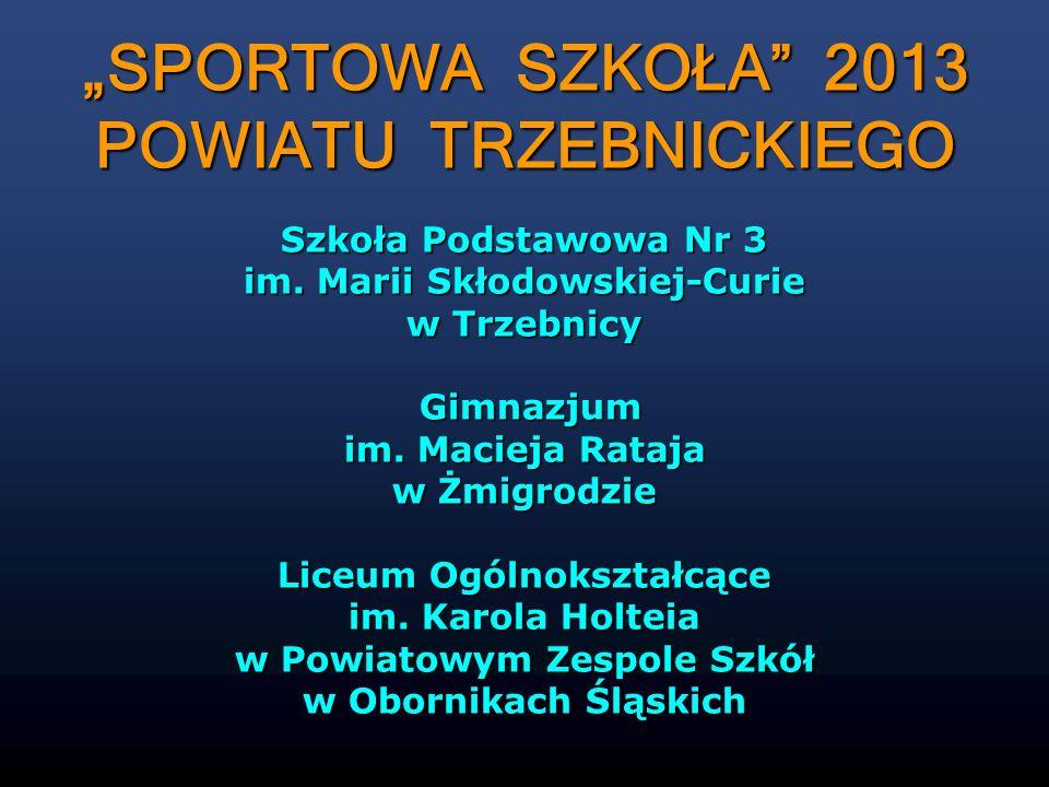 """""""SPORTOWA SZKOŁA 2013 POWIATU TRZEBNICKIEGO"""