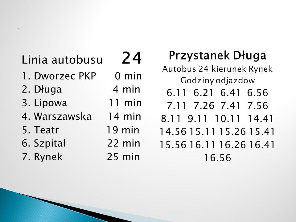 Autobus 24 kierunek Rynek