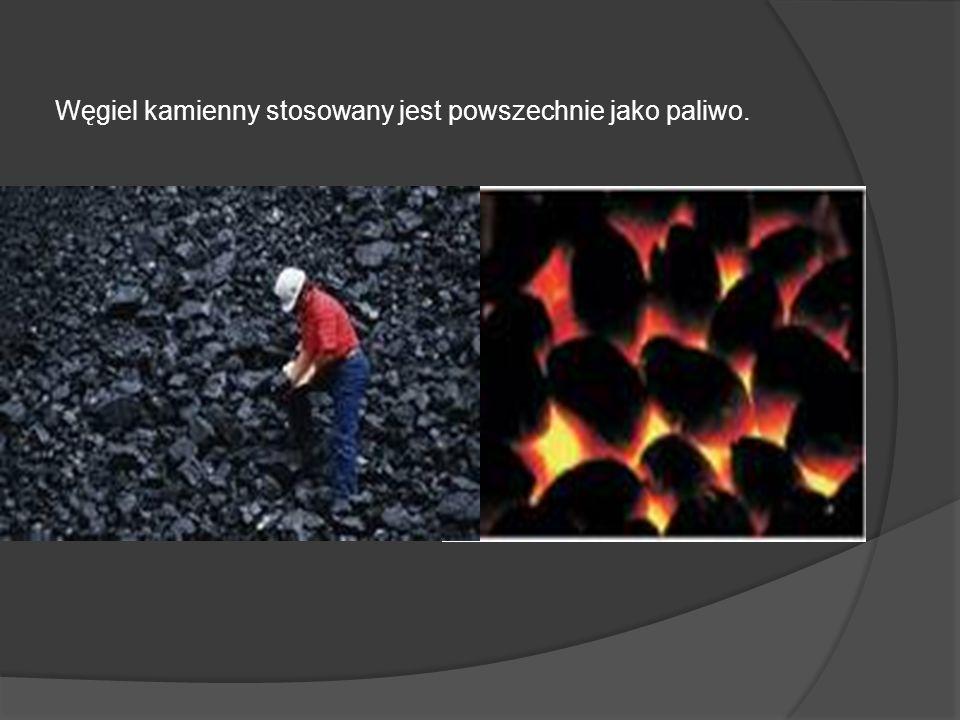 Węgiel kamienny stosowany jest powszechnie jako paliwo.