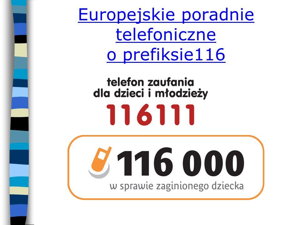Europejskie poradnie telefoniczne o prefiksie116