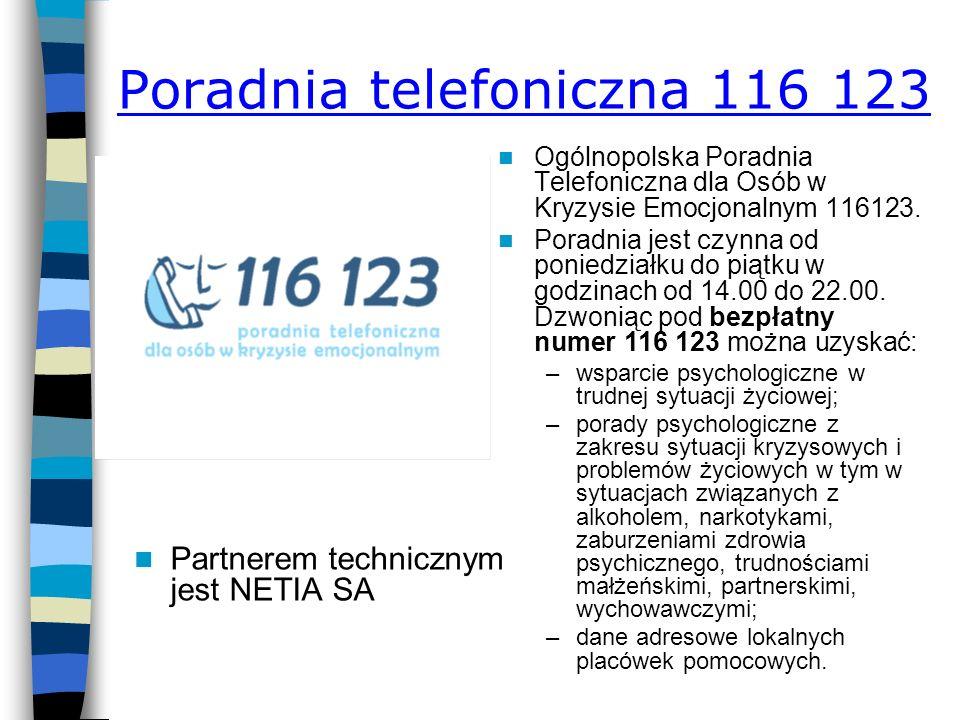 Poradnia telefoniczna 116 123