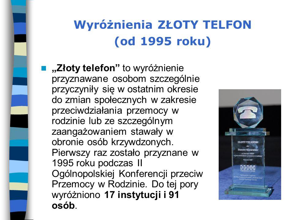 Wyróżnienia ZŁOTY TELFON (od 1995 roku)