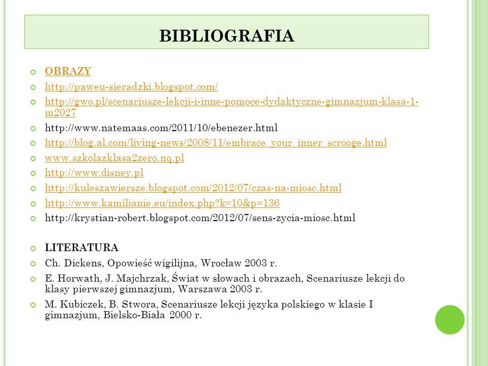 bibliografia OBRAZY http://paweu-sieradzki.blogspot.com/