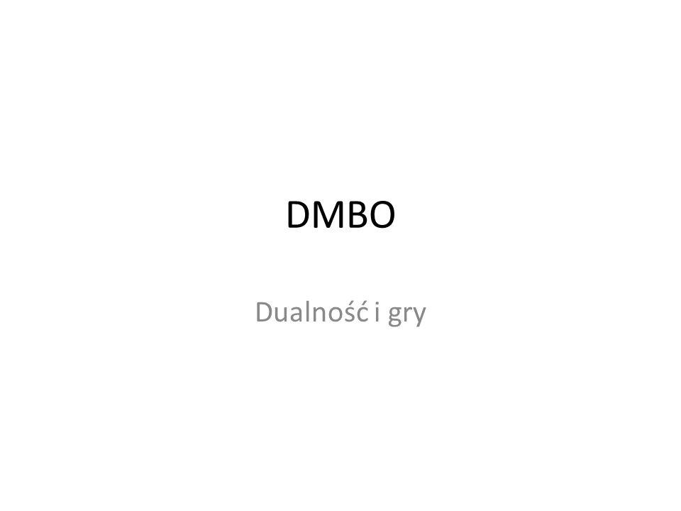 DMBO Dualność i gry