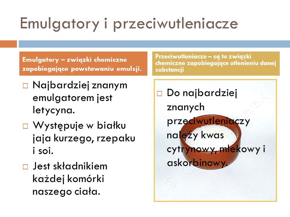 Emulgatory i przeciwutleniacze
