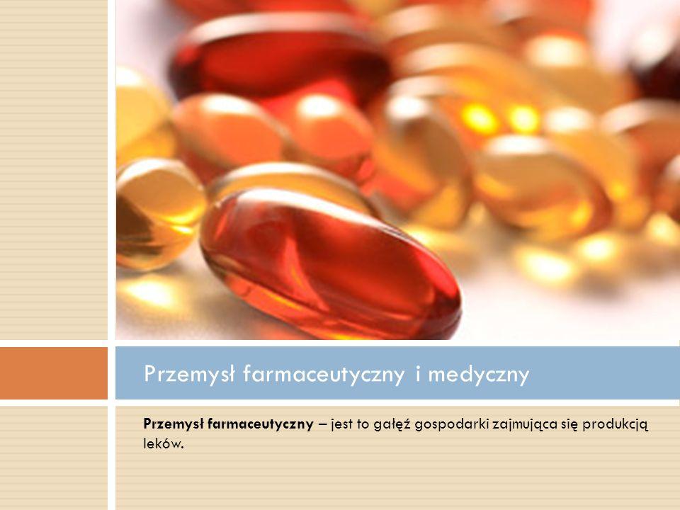 Przemysł farmaceutyczny i medyczny