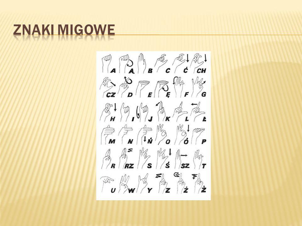 Znaki migowe