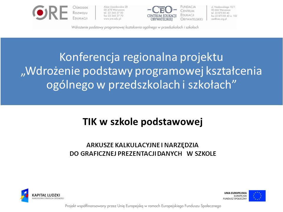 """Konferencja regionalna projektu """"Wdrożenie podstawy programowej kształcenia ogólnego w przedszkolach i szkołach"""