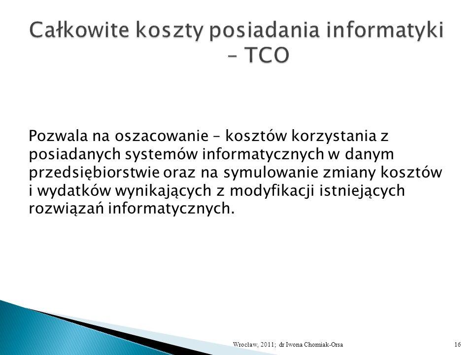 Całkowite koszty posiadania informatyki – TCO