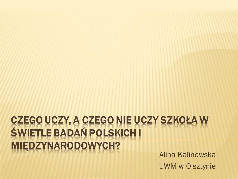 Alina Kalinowska UWM w Olsztynie