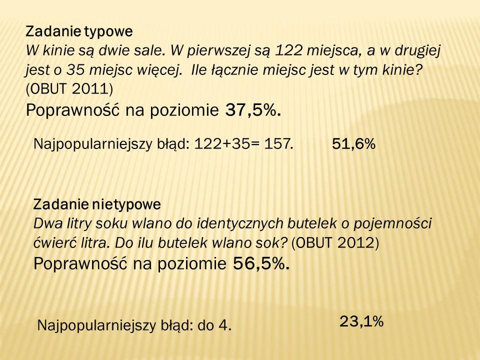 Poprawność na poziomie 37,5%.