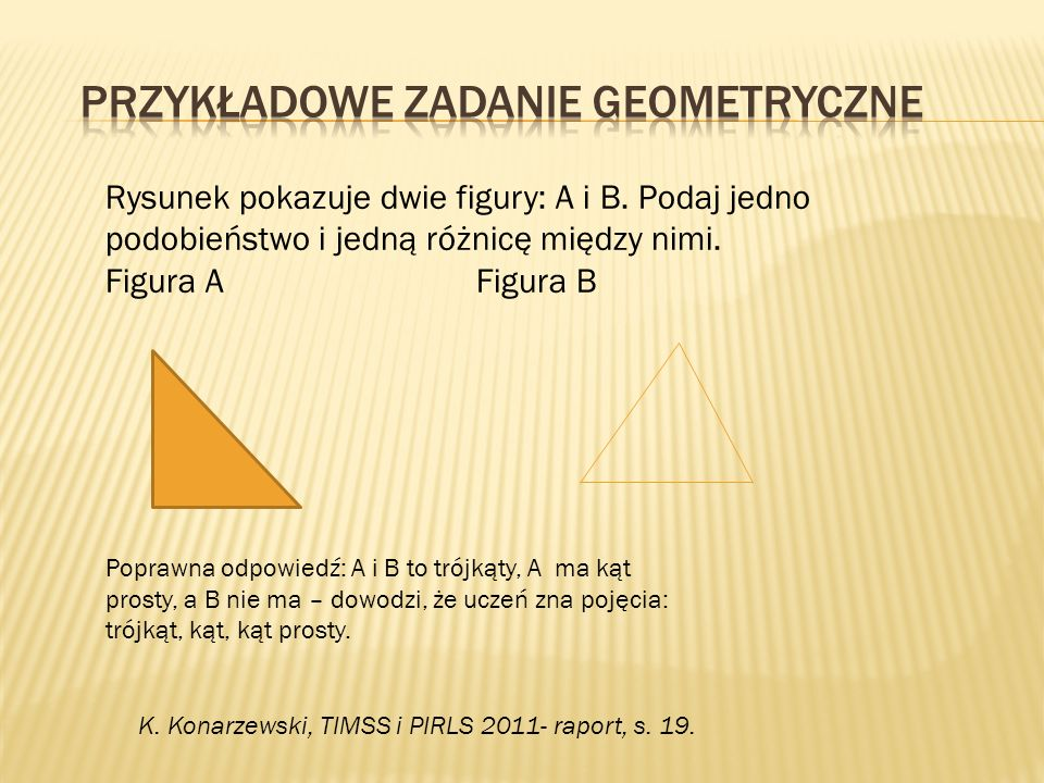 Przykładowe zadanie geometryczne