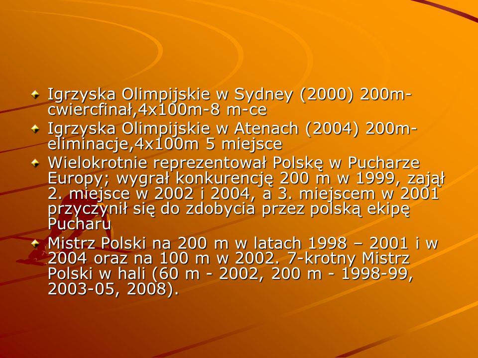 Igrzyska Olimpijskie w Sydney (2000) 200m-cwiercfinał,4x100m-8 m-ce
