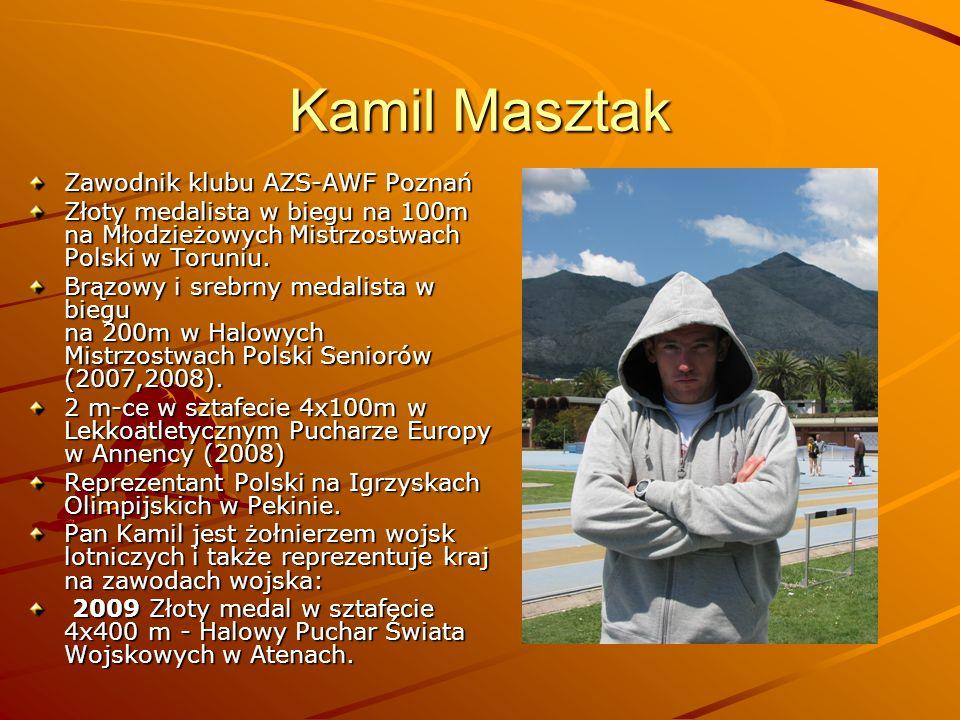 Kamil Masztak Zawodnik klubu AZS-AWF Poznań