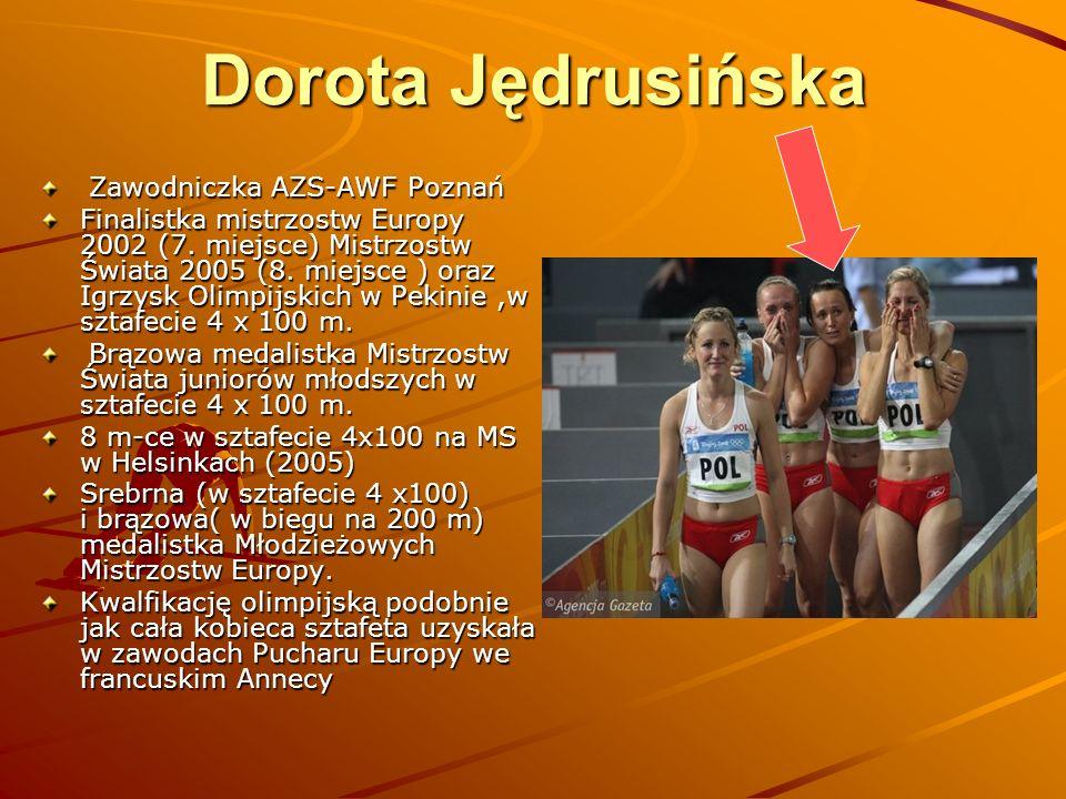 Dorota Jędrusińska Zawodniczka AZS-AWF Poznań
