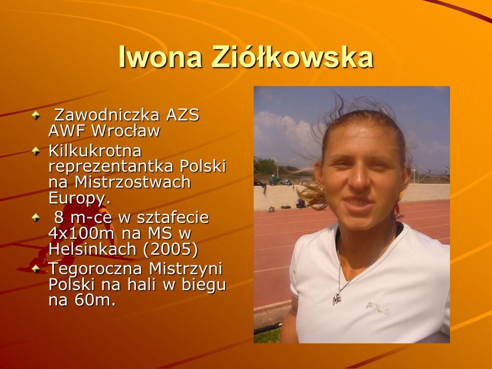 Iwona Ziółkowska Zawodniczka AZS AWF Wrocław