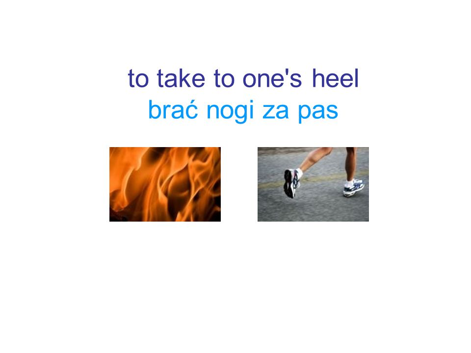 to take to one s heel brać nogi za pas