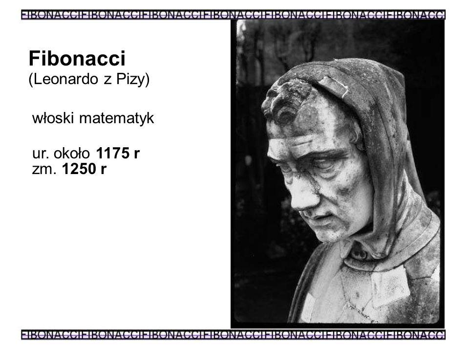Fibonacci (Leonardo z Pizy) włoski matematyk ur. około 1175 r