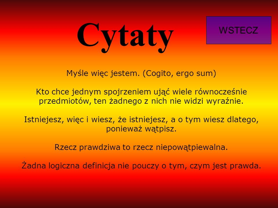 Cytaty WSTECZ.