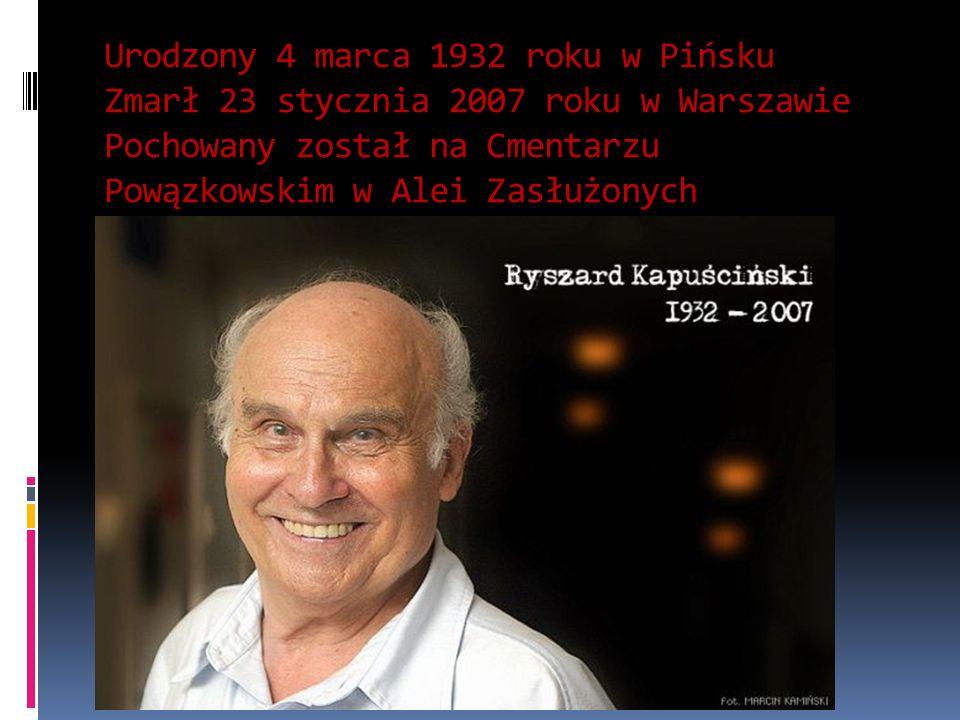 Urodzony 4 marca 1932 roku w Pińsku Zmarł 23 stycznia 2007 roku w Warszawie Pochowany został na Cmentarzu Powązkowskim w Alei Zasłużonych