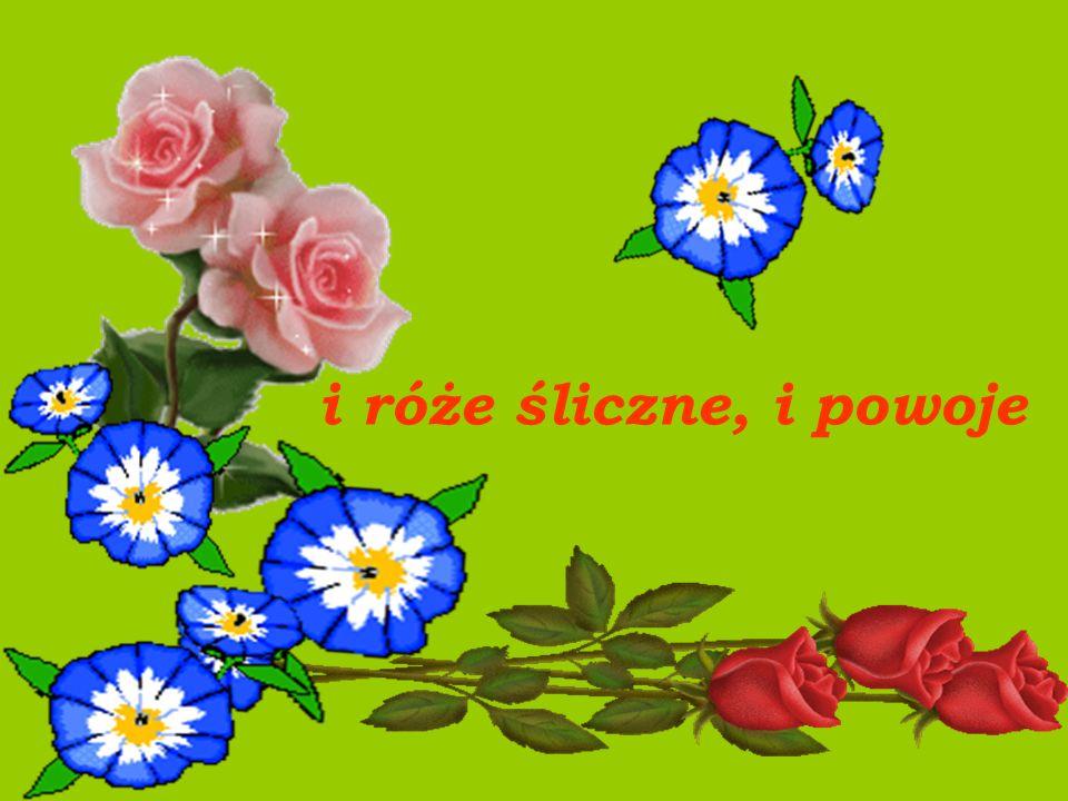 i róże śliczne, i powoje