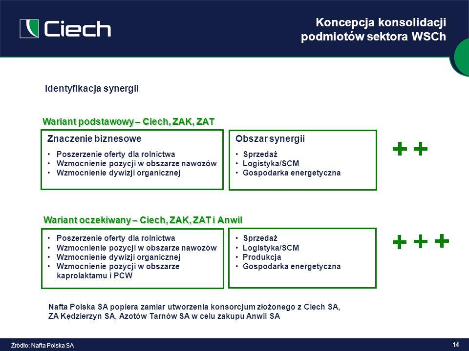 Koncepcja konsolidacji podmiotów sektora WSCh