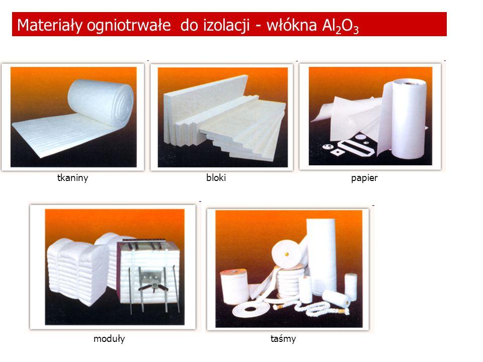 Materiały ogniotrwałe do izolacji - włókna Al2O3