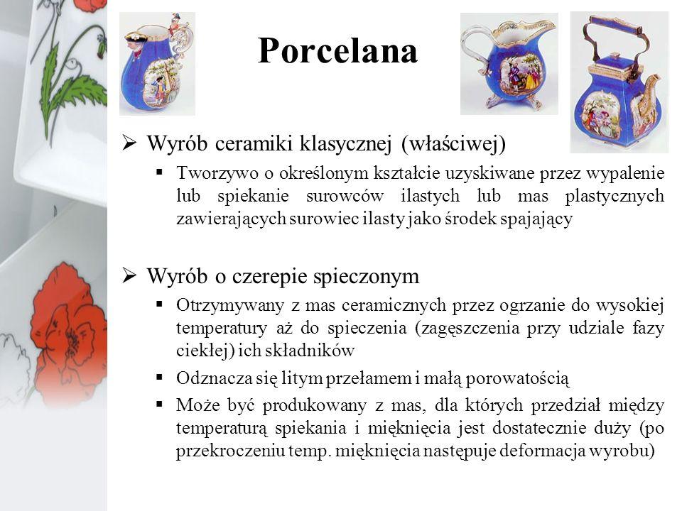 Porcelana Wyrób ceramiki klasycznej (właściwej)