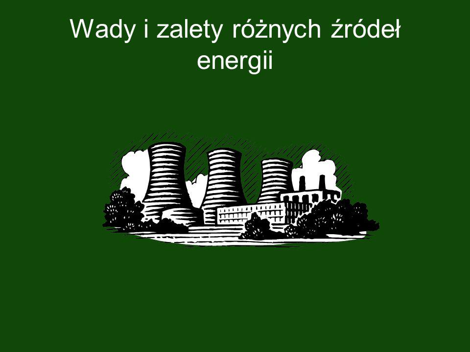 Wady i zalety różnych źródeł energii