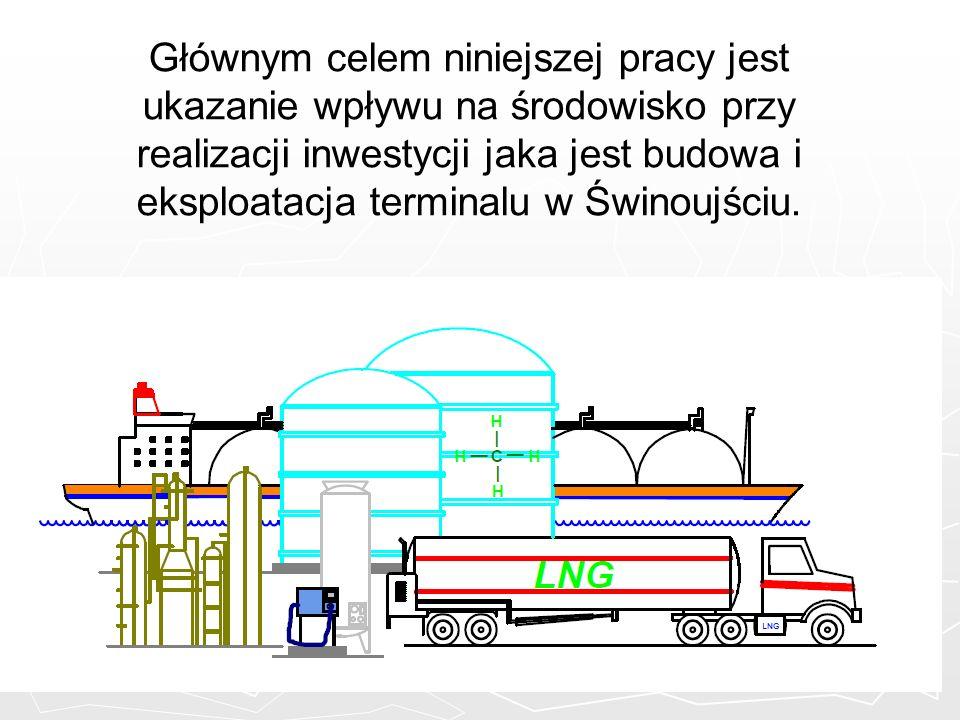 Głównym celem niniejszej pracy jest ukazanie wpływu na środowisko przy realizacji inwestycji jaka jest budowa i eksploatacja terminalu w Świnoujściu.