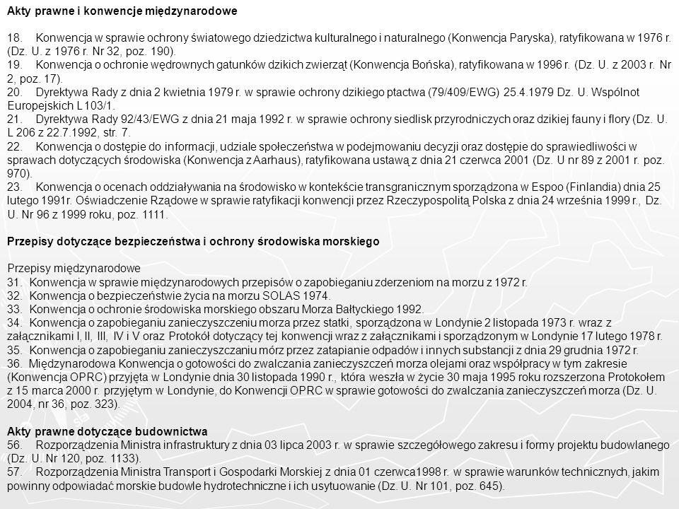Akty prawne i konwencje międzynarodowe
