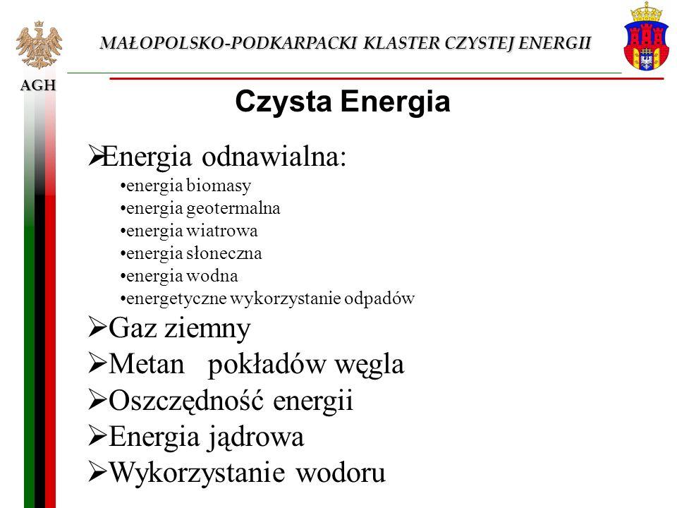 Czysta Energia Energia odnawialna: Gaz ziemny Metan pokładów węgla