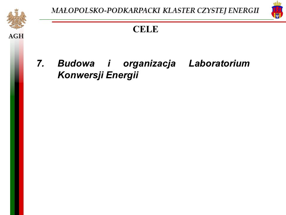 7. Budowa i organizacja Laboratorium Konwersji Energii