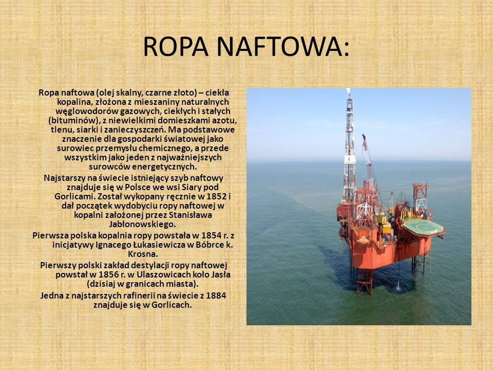ROPA NAFTOWA:
