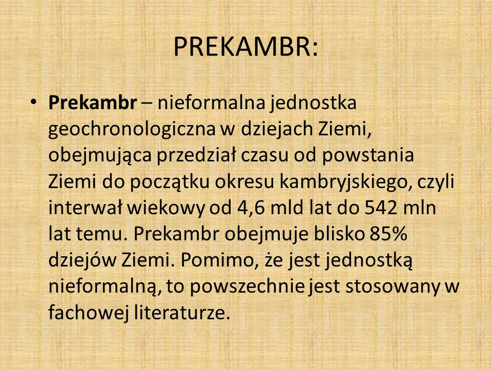 PREKAMBR: