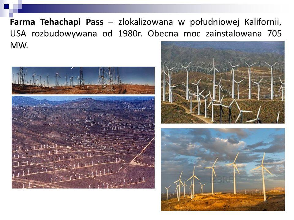 Farma Tehachapi Pass – zlokalizowana w południowej Kalifornii, USA rozbudowywana od 1980r.