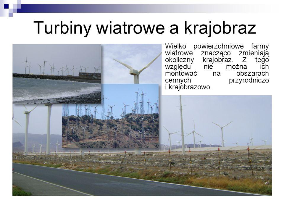 Turbiny wiatrowe a krajobraz