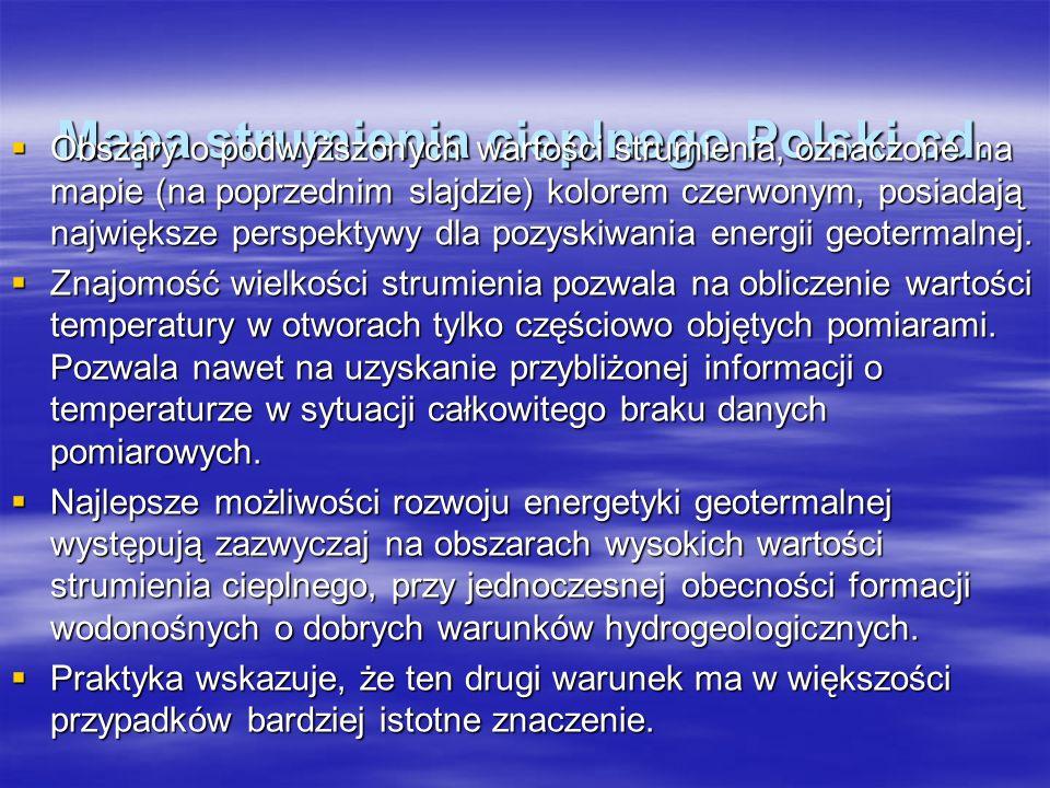 Mapa strumienia cieplnego Polski cd.