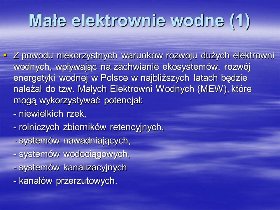 Małe elektrownie wodne (1)