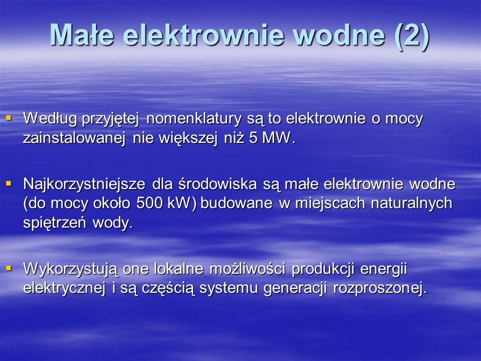 Małe elektrownie wodne (2)