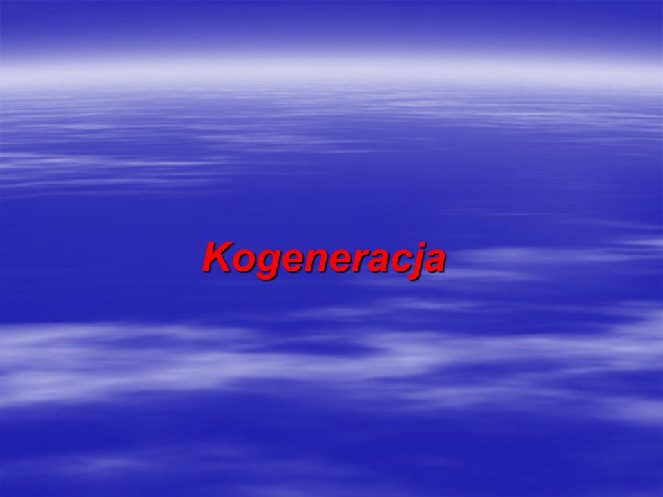 Kogeneracja