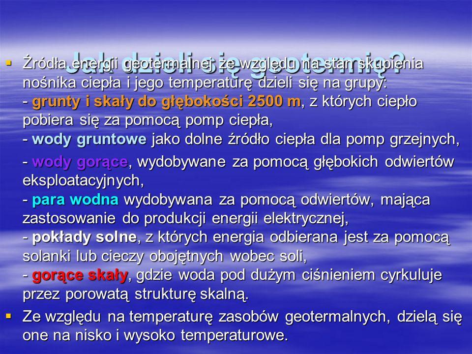 Jak dzieli się geotermię