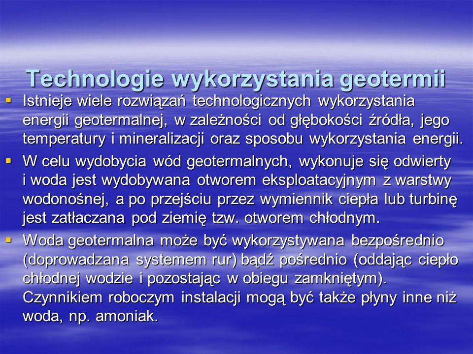 Technologie wykorzystania geotermii
