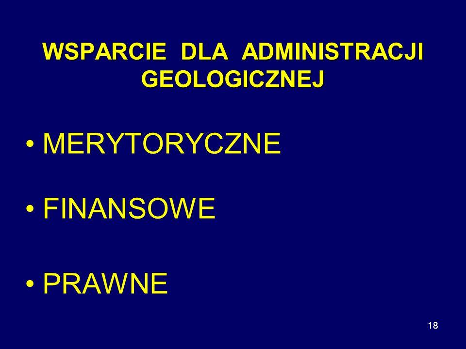 WSPARCIE DLA ADMINISTRACJI GEOLOGICZNEJ