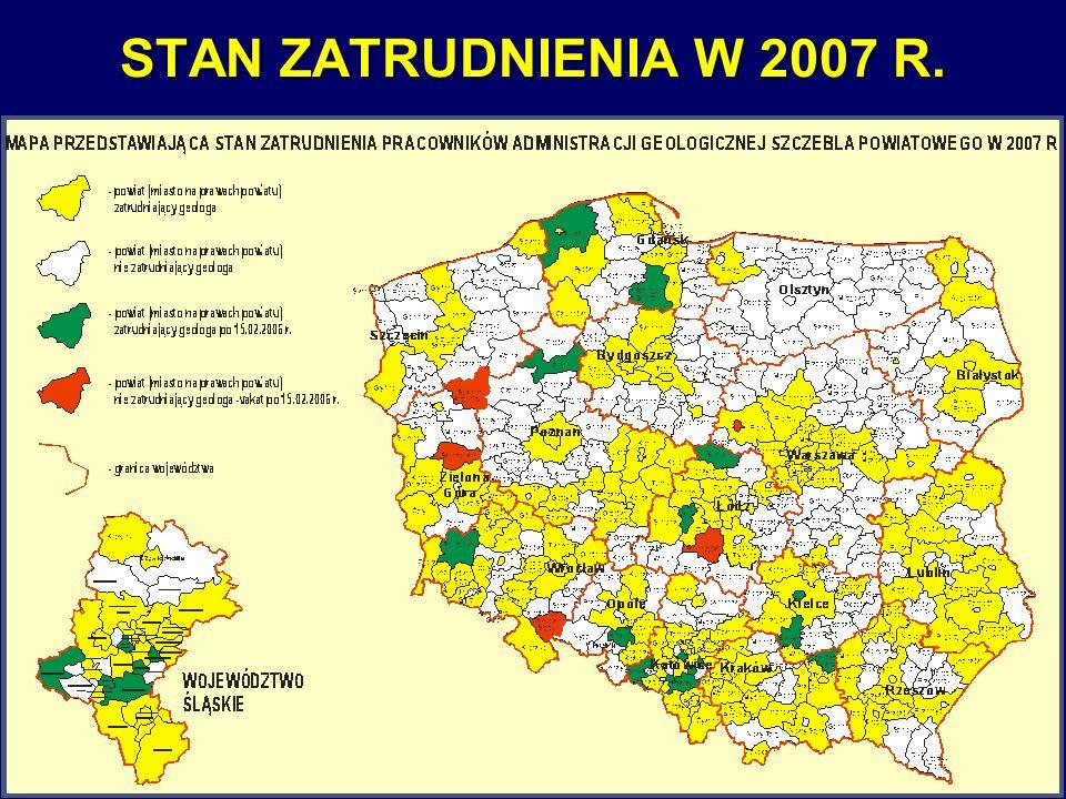 STAN ZATRUDNIENIA W 2007 R.