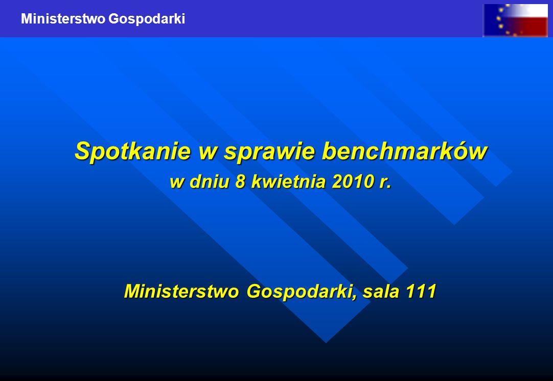 Spotkanie w sprawie benchmarków Ministerstwo Gospodarki, sala 111