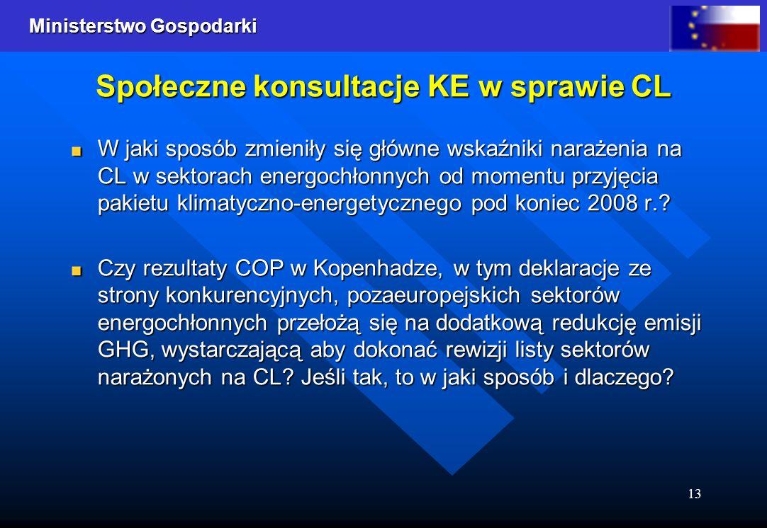 Społeczne konsultacje KE w sprawie CL