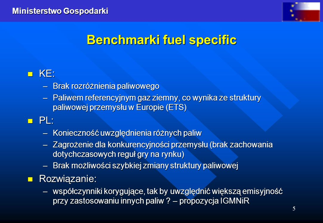 Benchmarki fuel specific
