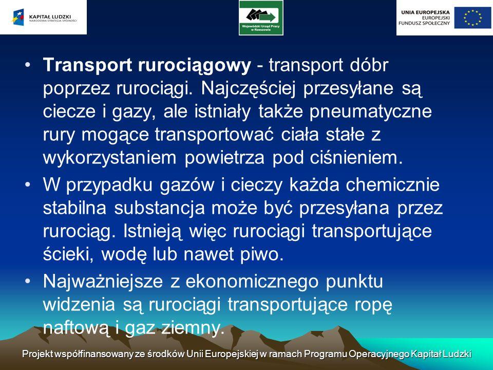 Transport rurociągowy - transport dóbr poprzez rurociągi