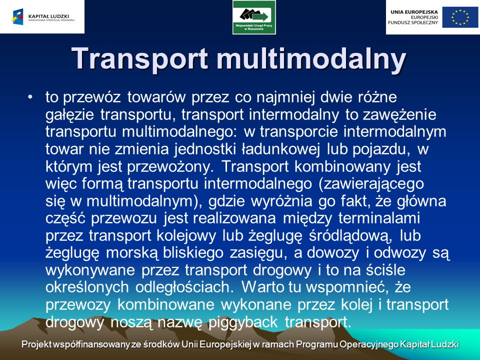 Transport multimodalny